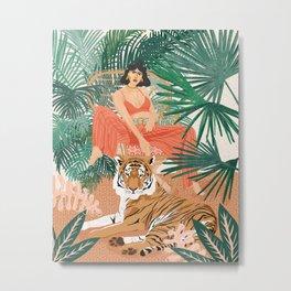 Tiger Leader Metal Print
