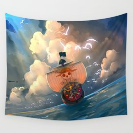 Ship of Pirates Wall Tapestry