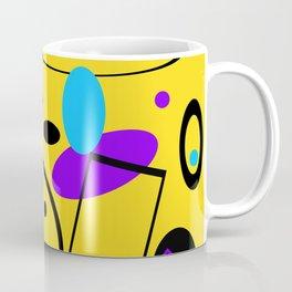 Retro abstract print yellow Coffee Mug