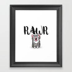 Little Pal, Big Roar Framed Art Print