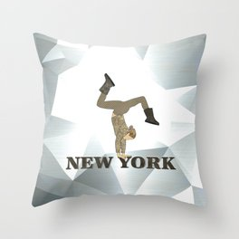 Gymnastics New York Throw Pillow