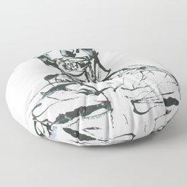 INK SKELETON Floor Pillow