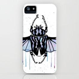 Watercolor Beetle iPhone Case
