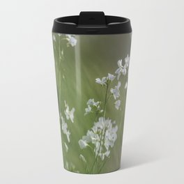 White meadow flowers Travel Mug