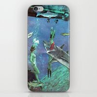 sharks iPhone & iPod Skins featuring Sharks by Ben Giles
