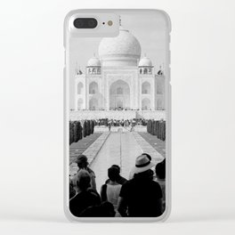 Taj Mahal with people Clear iPhone Case