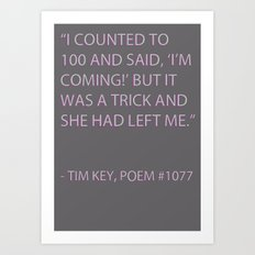 Poem #1077 Art Print