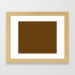 Black and brown checkers. Framed Art Print