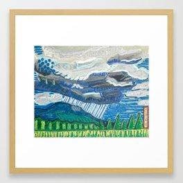 Rain in the Blueridge Framed Art Print