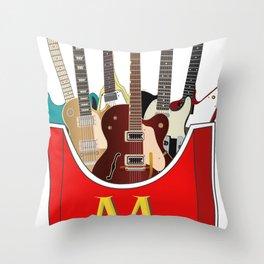 Maniac Donald's guitar potato Throw Pillow