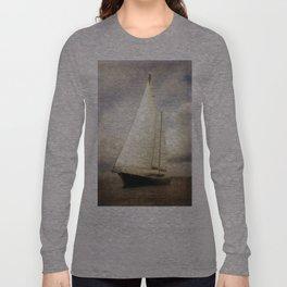 sailboat in grunge Long Sleeve T-shirt