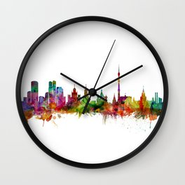 Moscow Russia Skyline Wall Clock