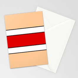 Horizontal stripes 2 color of ceramic Stationery Cards