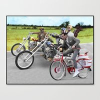 pee wee Canvas Prints featuring Pee Wee Rider by Rabittooth