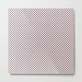 Renaissance Rose Polka Dots Metal Print
