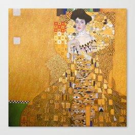 Gustav Klimt - Portrait of Adelle Bloch Bauer Canvas Print
