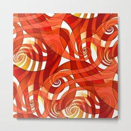 That's How I Whirl (orange) Metal Print