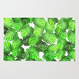 Monstera Leaf Random Pattern Rug