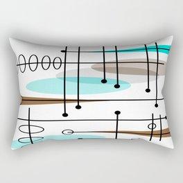 Mid-Century Modern Atomic Inspired Rectangular Pillow