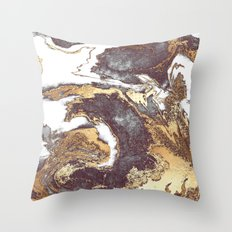Black White Gold Throw Pillow