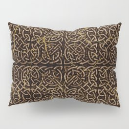 Celtic Wood Pattern with Gold Accents Pillow Sham