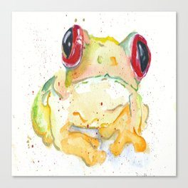 Springy Froggy Canvas Print