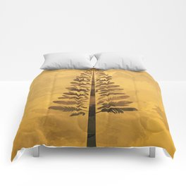 Feather Tree in warm colours Comforters