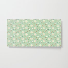 Cute Floral Pattern Metal Print
