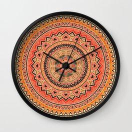 Hippie Mandala 12 Wall Clock