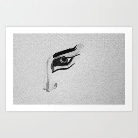 Dramatic eye Art Print