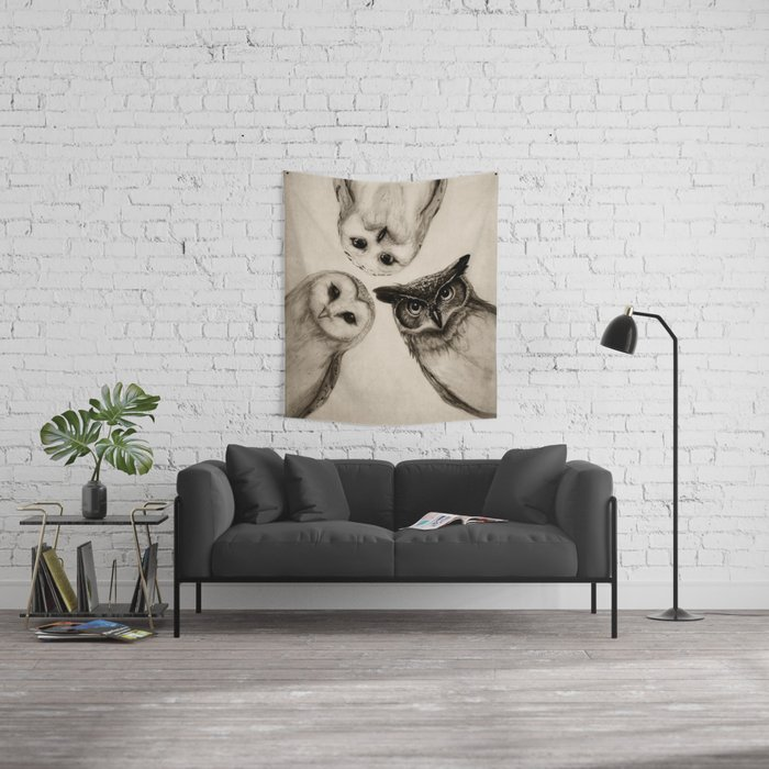 The Owl's 3 Wall Tapestry