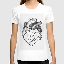 One heart. T-shirt