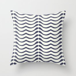 Abstract leaf shapes Throw Pillow