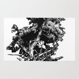 Ink drawing of and old Juniper Tree Rug