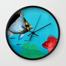 Butterfly & Bigeye fishes Wall Clock
