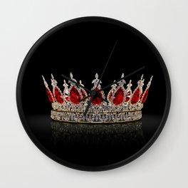 Ruby Jewel Crown Wall Clock