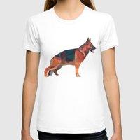 german shepherd T-shirts featuring German Shepherd Lowpoly by t-sign703