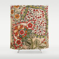 paisley Shower Curtains featuring paisley by Love on a Bike