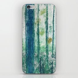 Collagraph print- enchanted forest iPhone Skin