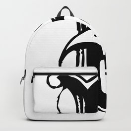 monogram b backpacks society6