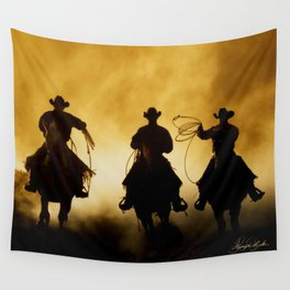 Three Cowboys Western Wall Tapestry