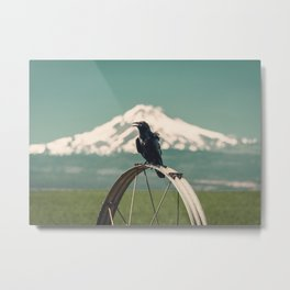 Mt. Jefferson Raven Metal Print