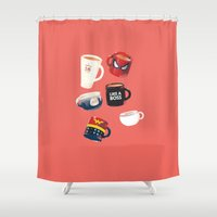 persona Shower Curtains featuring Workday Persona  by vonhagee