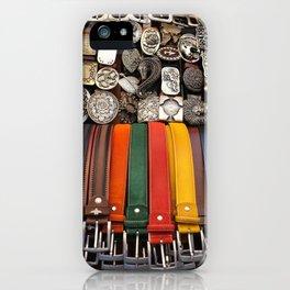 Italian leather belts, Florence market iPhone Case