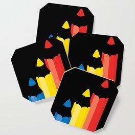 Primary colors Coaster