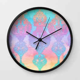 The Ups and Downs of Rainbow Doodles Wall Clock