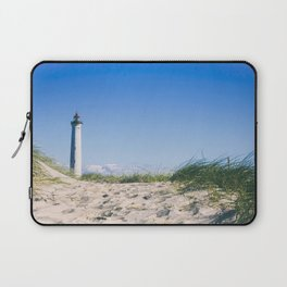 Nantucket Beach Lighthouse Laptop Sleeve