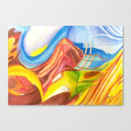 climb the mountain. the view is better up there Canvas Print