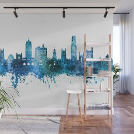 New Haven Connecticut Skyline Wall Mural