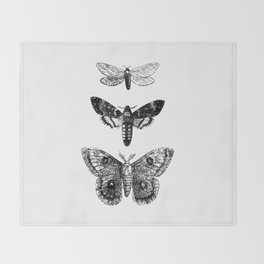 Vintage Butterflies Throw Blanket
